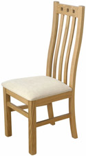 CH18 Oak High Back Side Chair