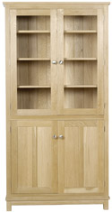 WR08 Tall Bookcase with Doors (glazed top)
