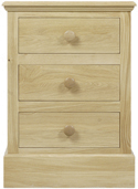K113 3 Drawer Bedside